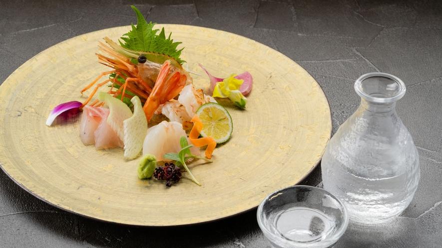 【和食処 ぶな/夕食】地酒とともにお楽しみください(イメージ)