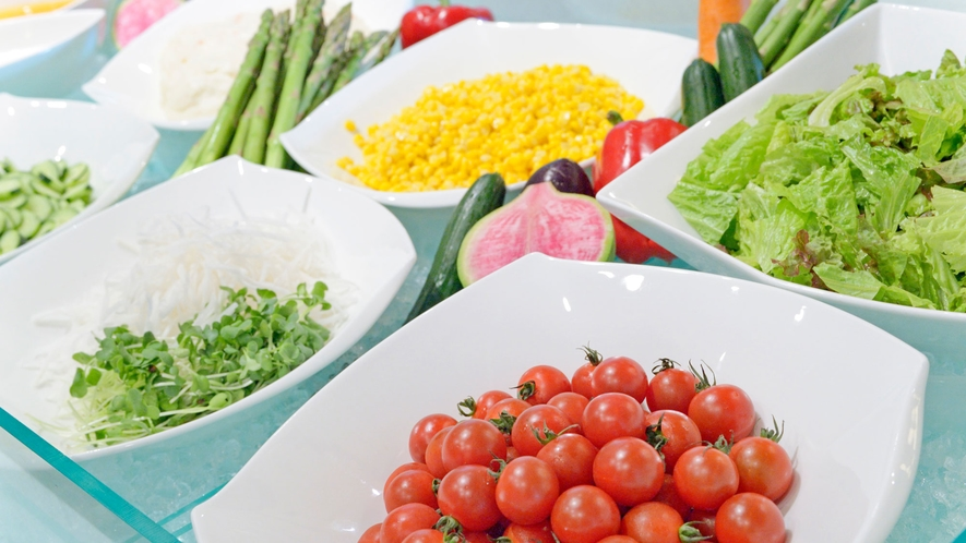 【コスモス/朝食】新鮮野菜のサラダコーナー