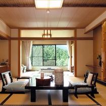 【スタンダード】谷川岳を望む広いお部屋/和室8畳+3畳(一例)