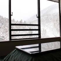 美しい雪化粧の山々をご覧頂けます。