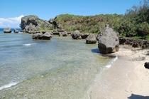 静かなビーチ(西側) 徒歩1分