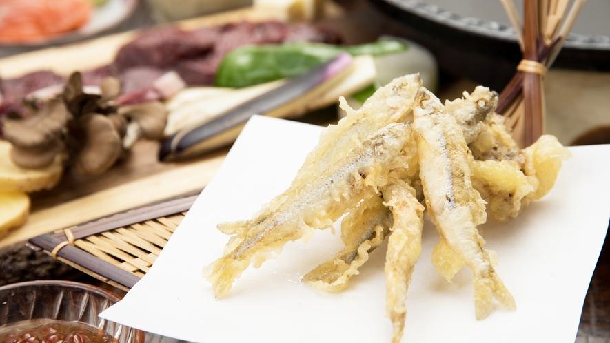 *[夕食一例]阿寒湖産のワカサギの天ぷら