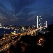 【門司港】関門橋(夜)(お車で30分)