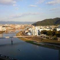 狩野川沿いのお部屋からの眺望・昼
