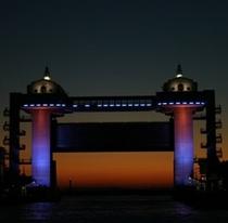 日本最大級の沼津港大型展望水門「びゅうお」