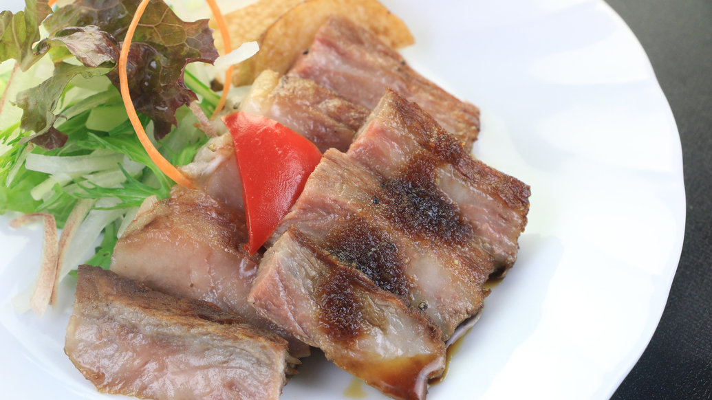 【料理】夕食一例_豊後牛ステーキ