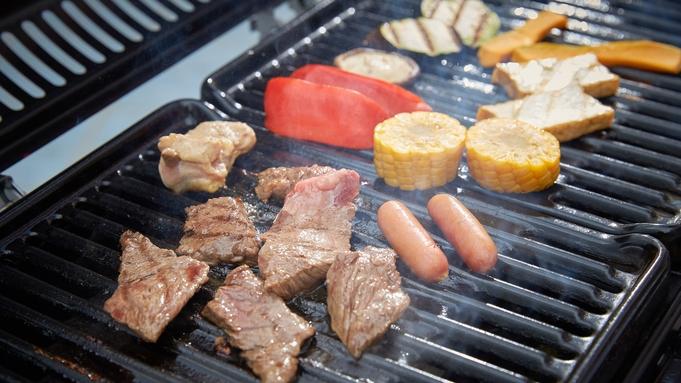 【夕食付プラン・県産黒毛和牛BBQ】厳選和牛BBQ★ガーリックトーストが美味