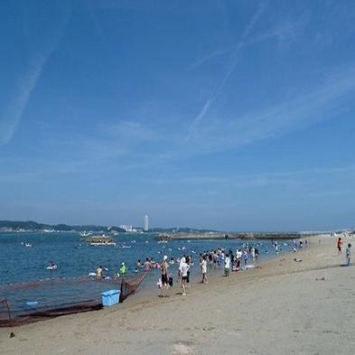 【 海水浴 】サンライズビーチまで徒歩1分♪旬魚姿造り×タコ丸茹で■特典付き