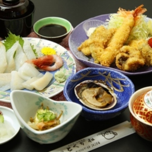刺身フライ定食