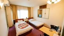 ・【洋室一例】シングルベッド2台設置で2名様までご利用可能