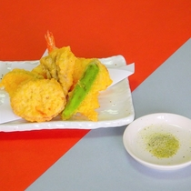 海老天ぷら盛り合わせ「白浜膳」