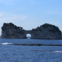 円月島♪沈む夕日がきれいです♪