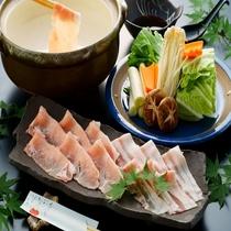 ◆リーズナブルプラン◆大分県産錦雲豚の豚しゃぶ鍋※イメージ写真