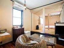◆【ペット同伴可】ローベッド12帖の和洋室/大浴場利用