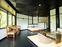 ◆【ドームハウス棟】ローベッド15帖の和洋室/露天風呂付き