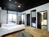 ◆【テラスヴィラ棟】ローベッド10帖のモダン和室/内湯付き