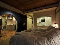 スーペリアスタジオの客室の一例(ブルー)