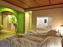 エグゼクティブスタジオの寝室