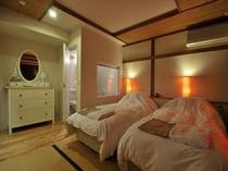 スタンダードスタジオの客室の一例(オレンジ)