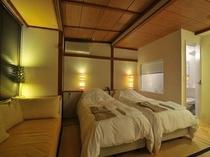 スタンダードスタジオの寝室
