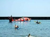 当館の目の前は平磯海岸場。 海には「くじらの大ちゃん」が泳いでいます!