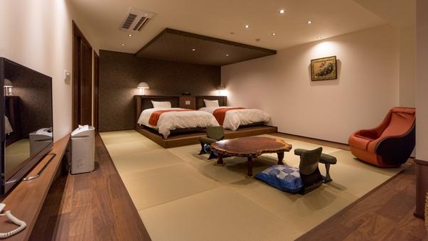 【夕陽亭】特別室:和洋室+源泉掛け流し風呂◆禁煙室◆広間食◆