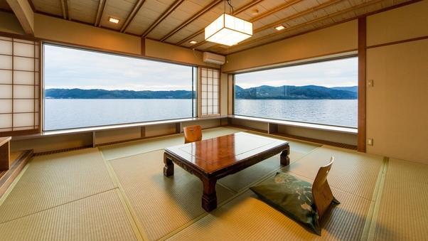 【水琴亭】和室/1階角部屋:12.5畳◆禁煙室◆広間食◆