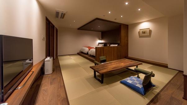 【夕陽亭】特別室:和洋室+源泉掛け流し風呂◆禁煙室◆個室食◆