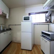 ご自由にお使いいただける共用キッチンがあります