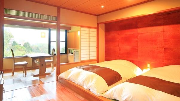 【禁煙】眺望がよい和モダンツイン◆快適なベッド付◆