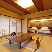 和室とベッドルームが仕切られているので、落ち着いてお寛ぎいただけます。