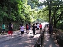 足羽山公園でのトレーニング風景