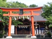 新田義貞公を祀る藤島神社(足羽山公園内)