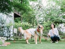 大型犬も歓迎♪ 専用のドッグランがついた客室一例