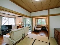 全室40㎡以上。清潔で広々とした客室一例。