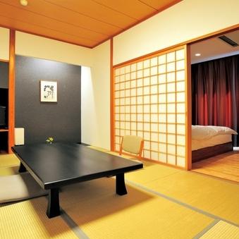 【本館・和洋室】スタンダード 10畳和室+ツインベッド