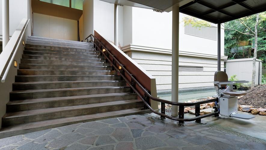大浴場山頭火 階段