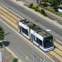 ☆市電・低床電車らっくる号 イメージ 〜市電電停まで徒歩2分。運行は5〜10分間隔です♪