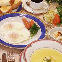 【朝食一例:洋食】和食or洋食お好みのメニューをお選びいただけます