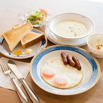*朝食一例:洋食】和食or洋食お好みのメニューをお選びいただけます