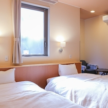 *【客室一例】ツインルーム(洗浄機付きユニットバス完備)