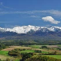 深山峠から見る十勝岳