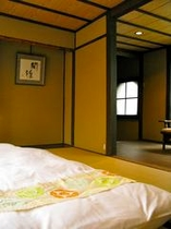 庵 石不動之町町家 2F和室 布団を2組まで敷くことが可能です。