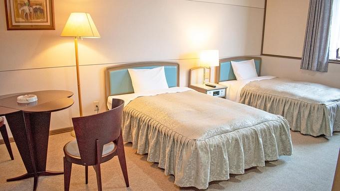 「素泊り」洋室でゆったり♪リラックスできる広めのベッド!大浴場・サウナ完備!全館無料WiFi