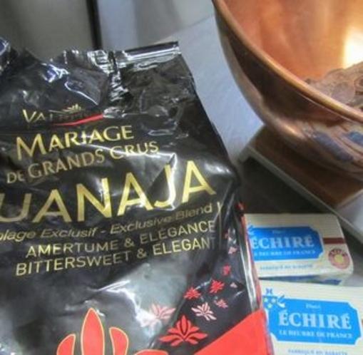 贅沢なチョコヴァローナのグアナラとエシレバターのコラボレーション