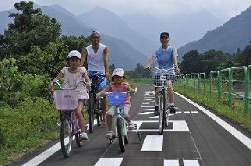 家族で自転車