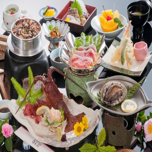 【量より質スペシャル】伊勢海老お造り、鮑踊り焼&松阪牛を味わうプラン