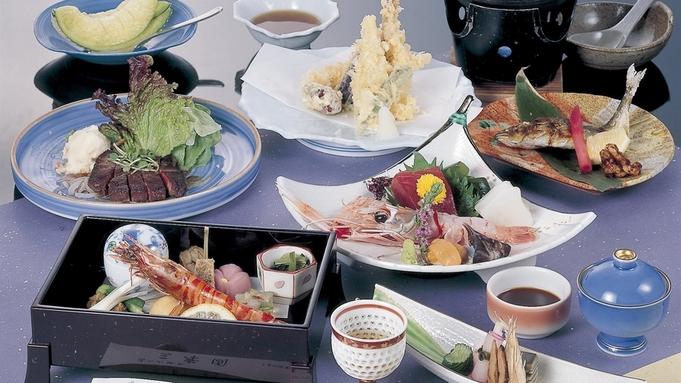 ≪グレードアップ≫メインは三重県産和牛ステーキ100g!お肉もお魚もたっぷり味わえる贅沢会席