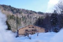 秘湯ムード満天の東大雪荘