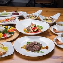 *お夕食一例/南房総の自然が育む旬の山海の幸を盛り込んだイタリアン料理に舌鼓。